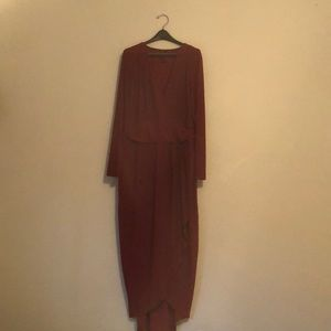 Forever21 Plus Size Burgundy Dress